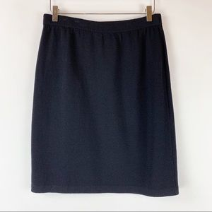 St. John Basics Classic Santana Knit Skirt 12